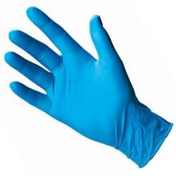 Pirštinės vienkartinės, nitrilinės, be latekso, mėlynos Nr.M,L,XL