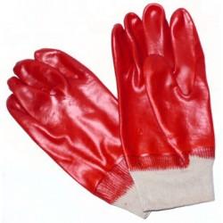 Pirštinės su rankogaliu, aplietos PVC