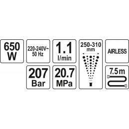 Dažymo agregatas 650W, YATO YT-82560