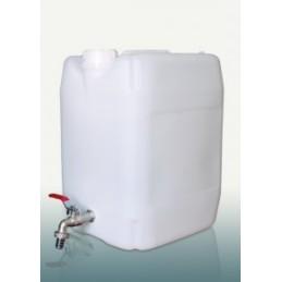 Kanistras vandeniui 20ltr. plastikinis su kranu