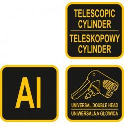 Pompa rankinė teleskopinė aliuminė VOREL 82031