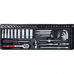 Įrankių spintelė su įrankiais, su ratukais, 174vnt.