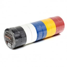 Izoliacinė juosta PVC 10vnt. asorti spalvos KD10915