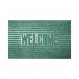 Kilimėlis durų guminis 46x76cm. t. žalias WELCOME