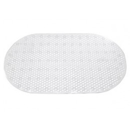 Kilimėlis voniai 67x36cm. neslystantis ovalus skaidrus YM300