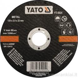 Diskas metalo pjovimui 125 mm. YATO 5924