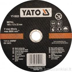 Diskas metalo pjovimui 180 mm. YATO 5925