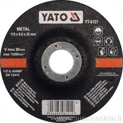 Diskas 115mm. metalo šlifavimui YATO 6121