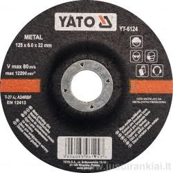 Diskas 125mm. metalo šlifavimui YATO 6124