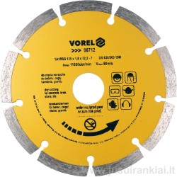 Diskas 125mm. deimantinis sausam pjovimui VOREL 08712