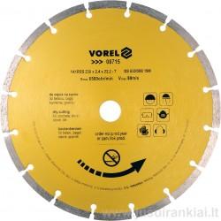 Diskas 230mm. deimantinis sausam pjovimui VOREL 08715