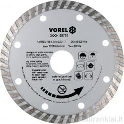 Diskas 115mm. deimantinis sausam+šlapiam pjovimui VOREL 08751