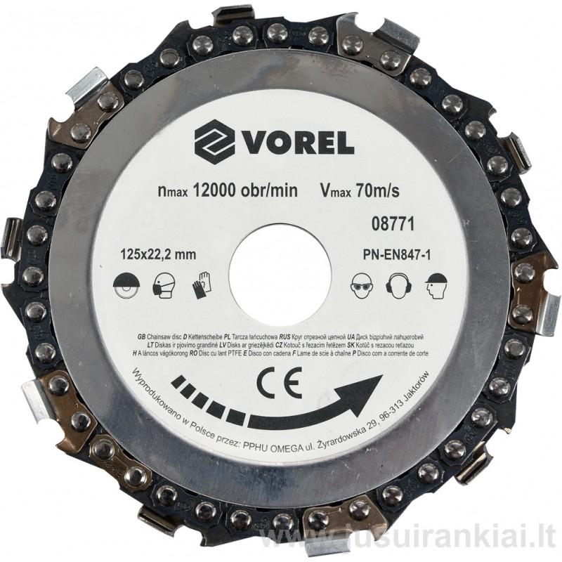 Diskas 125mm. grandinė pjovimo VOREL 08771