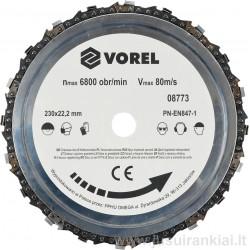 Diskas 230mm. grandinė pjovimo VOREL 08773