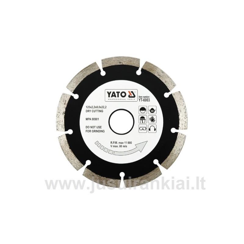 Diskas 125mm. deimantinis sausam pjovimui YATO 6003