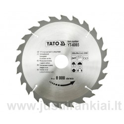 Diskas 200x30/3,2mm. 24dant. medžiui YATO 6065