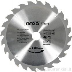 Diskas 250x30/3,2mm. 24dant. medžiui YATO 6070
