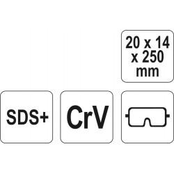 Kaltas SDS perforatoriui CrV YATO 4721