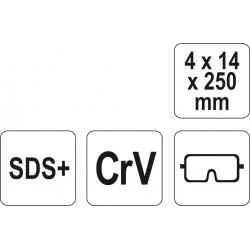 Kaltas SDS perforatoriui CrV YATO 4720