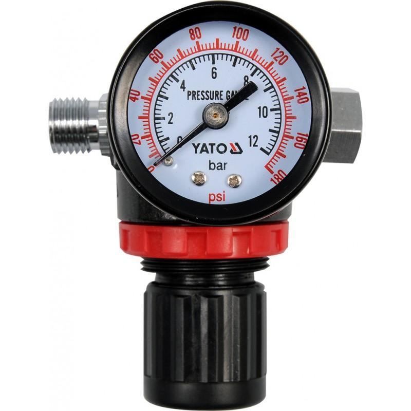 Sklendė spaudimo mažinimui su manometru YATO YT-2381