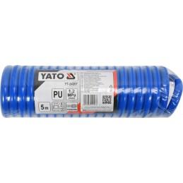 Žarna 5m spiralinė su antgaliu (poliuretanas) YATO YT-24207