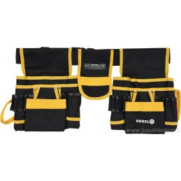 Diržas įrankiams su kišenėmis ir dviem slankiojančiomis mentėmis VOREL Y-78752