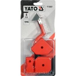 Glaistikliai silikonui 3vnt + šepetėlis-grandiklis YATO 52621