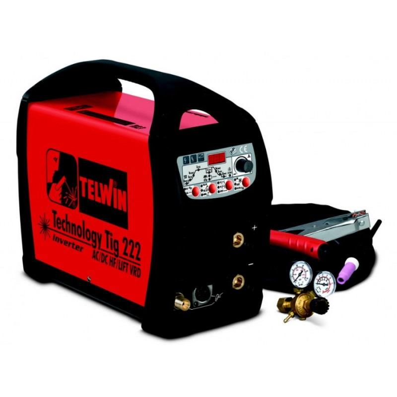 TIG aparatas Technology TIG222 AC/DC-HF/LIFT+TIG priedai TELWIN
