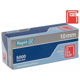 Kabės Nr.53, 10mm 1080vnt cinkuotos RAPID Nr.53
