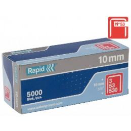 Kabės Nr.53, 10mm 5000vnt cinkuotos RAPID Nr.53