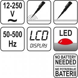 Skaitmeninis indikatorius 12-250V, 50-500Hz YATO YT-2862