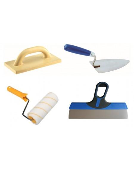 Dažymo, glaistymo, tinkavimo, mūrijimo įrankiai