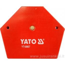 Laikiklis 111x136x24mm. magnetinis 34,0kg YATO YT-0867