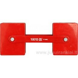 Laikiklis 85x65x22mm. magnetinis 360° 2x22,5kg YATO YT-0862