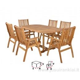 Lauko baldų komplektas HECHT ROUNDED SET