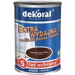 Emaliniai dažai medžiui ir metalui 0,9ltr. tamsiai rudi Emakol Strong DEKORAL