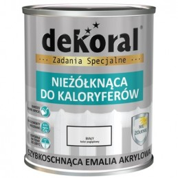 Akriliniai emaliniai dažai 0,75ltr. radiatoriams sp. balta DEKORAL
