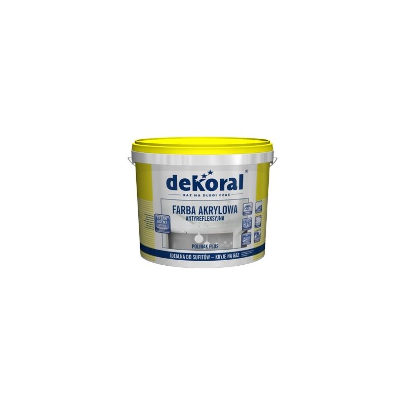 Emulsiniai plaunami dažai, balti, 5ltr. vidaus darbams DEKORAL POLINAK PLUS C370396