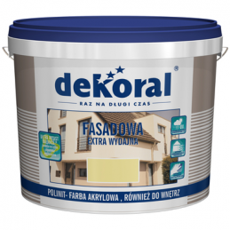 Emulsiniai fasadiniai dažai, balti (sniezna-biel), 5ltr. DEKORAL POLINIT C250807