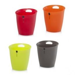 Šiukšliadėžė 24x25,5cm. plastikinė įvairių spalvų HR16428