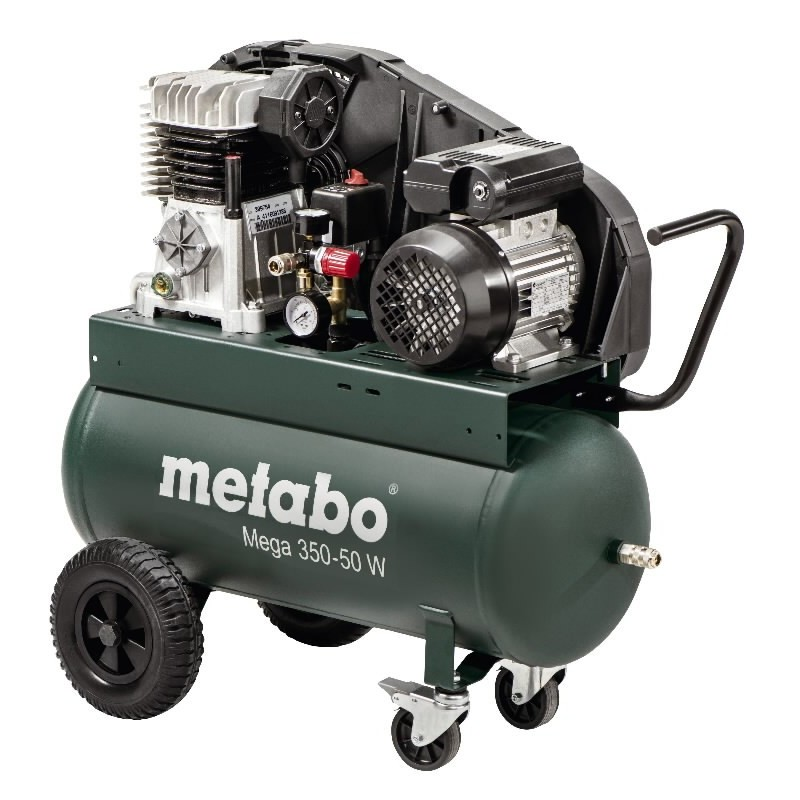 Kompresorius 50l. 320L/min, 10bar, Mega 350-50W METABO