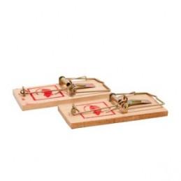 Spąstai pelėms mediniai 10x4,5cm. 2vnt.
