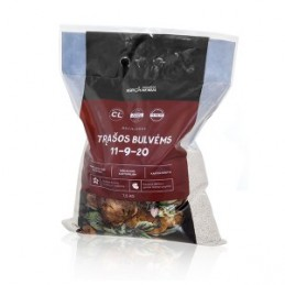 Trąšos bulvėms NPK 11-9-20 +S+Mg+B, maišelis 7,5 kg.