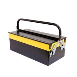 Dėžė įrankiams metalinė 404x200x150mm. 3dalių CROWNMAN
