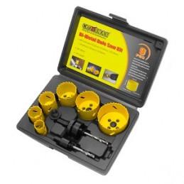 Grąžtai metalui karūniniai Bi-metal 9vnt. 22-64mm. CROWNMAN 0160609