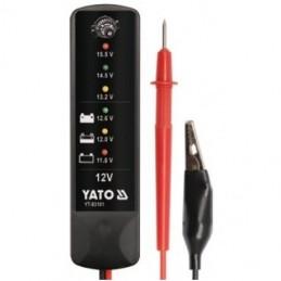Akumuliatoriaus baterijos ir generatoriaus testeris skaitmeninis 12V YATO YT-83101