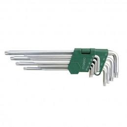L-tipo šešiakampių TORX vidutinių raktų rinkinys 9vnt. (T10-T50)