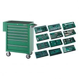 Įrankių spintelė su įrankiais, su ratukais, 246vnt.