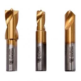Gražtų rinkinys kontaktiniams taškams nugręžti 3vnt. (6.5-10mm) (cobalt)