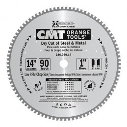 Pjovimo diskas 355x2,2/1,8x25,4mm Z72 8°FWF HM metalas, CMT